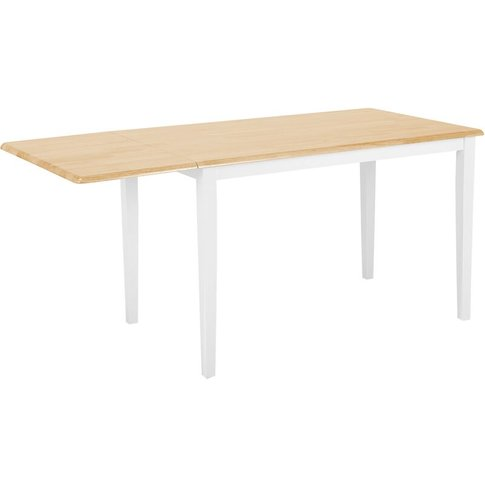 Extending Rubberwood Dining Table 120/160 X 75 Cm Wh...
