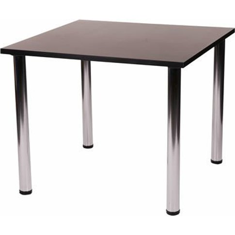 Fabian Square Small Or Large Kitchen Dining Table With 4 Chrome Legs Beech 90x90 Cm - Netfurniture