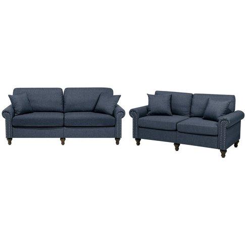 Fabric Sofa Set Dark Grey Otra - Beliani