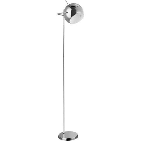 Floor Lamp,Chrome/White Inside - Big Living