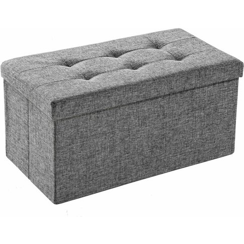 Tectake - Foldable Storage Bench Made Of Polyester -...