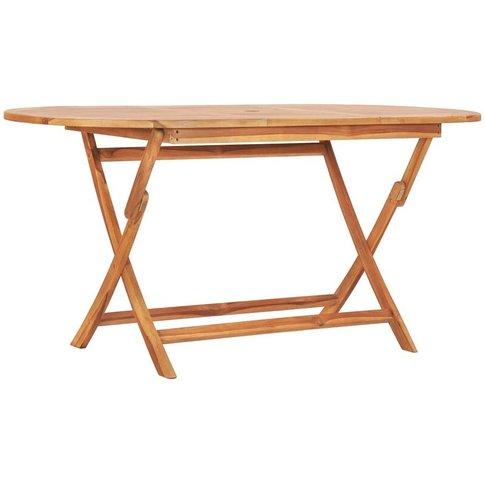 Folding Garden Table 160x80x75 Cm Solid Teak Wood - ...