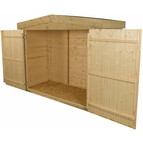 Forest Shiplap Large Double Door Apex Garden Storage...