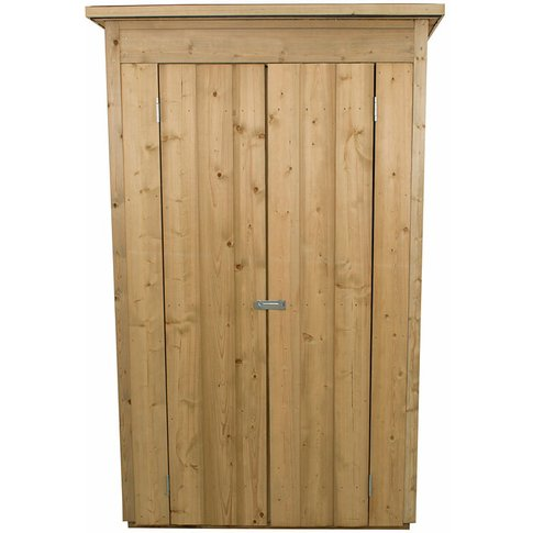 Forest Tall Pent Wooden Garden Storage Tool Store- O...