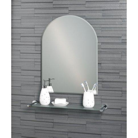 Frameless Wall Mounted Arch Hampton Bathroom Mirror ...