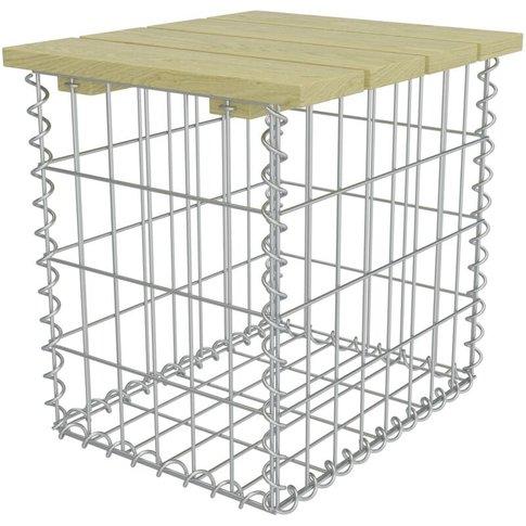 Garden Footstool 40x40x45 Cm Galvanised Steel Pinewo...