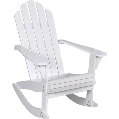 Garden Rocking Chair Wood White - Youthup