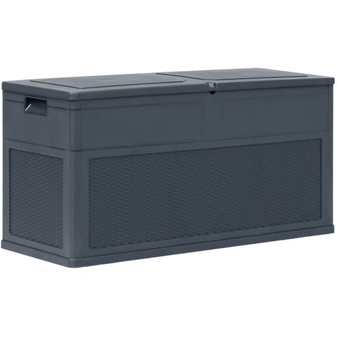Garden Storage Box 320 L Anthracite - Vidaxl