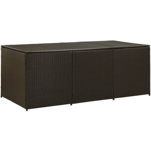 Garden Storage Box Poly Rattan 180x90x75 Cm Brown - Youthup