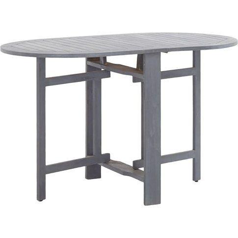 Garden Table Grey 120x70x74 Cm Solid Acacia Wood - Y...