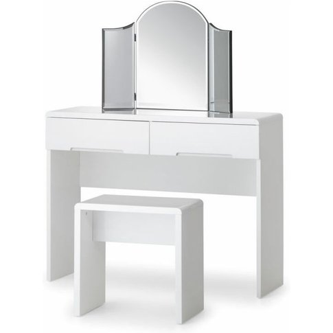 Grant White High Gloss Dressing Table With 2 Drawers...