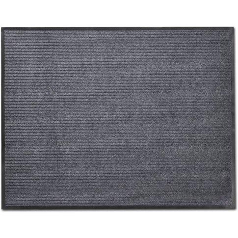 Grey Pvc Door Mat 90 X 60 Cm - Youthup