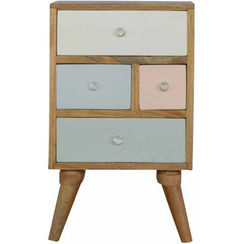 Hand Painted Multi Drawer Bedside Table - Artisan Fu...