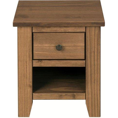 Hesta Lamp Table Pine - Netfurniture