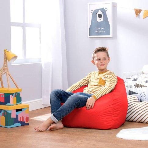 Bean Bag Bazaar - Hi-Rest Bean Bag Chair - Medium La...