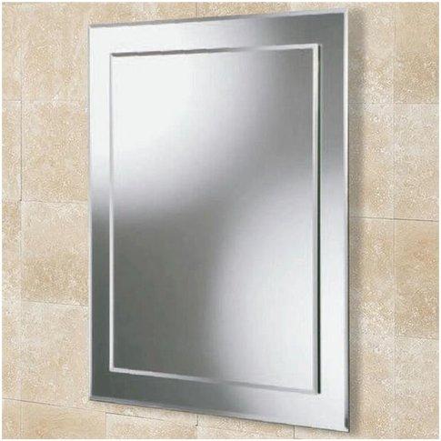 Linus Designer Bathroom Mirror 700mm H X 500mm W - Hib