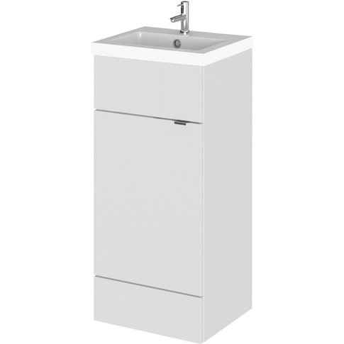 Fusion Floor Standing 1-Door Vanity Unit With Basin ...
