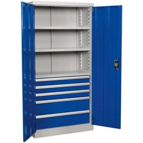 Apiccombo5 Industrial Cabinet 5 Drawer 3 Shelf 1800m...