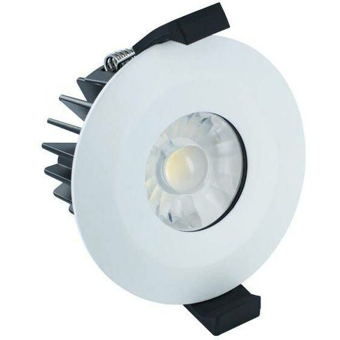 Integral - Led Low Profile Ip65 Fire Rated Downlight Recessed Spotlight 6w 4000k 440lm Dimmable Matt White Ip65 - Integral Lighting