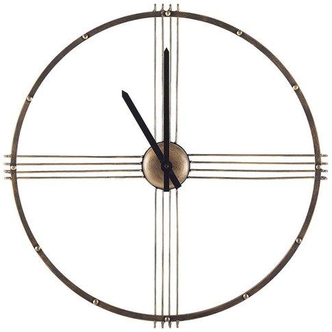 Iron Wall Clock Ø 64 Cm Gold Ascona - Beliani