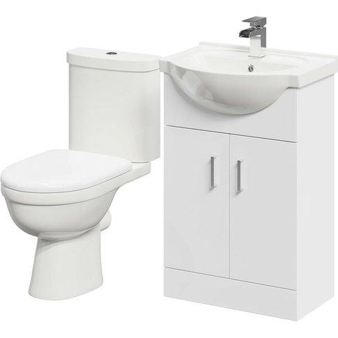 James 550mm Vanity Unit & Toilet Suite - Wholesale D...