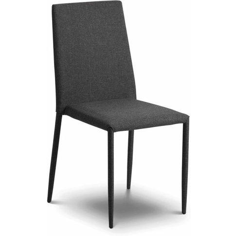 Jonef Fabric Slate Grey Modern Stylish Dining Chair ...