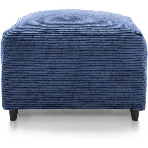 Jumbo Cord Footstool - Color Blue - Abakus Direct