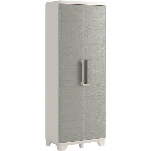 Garden Multipurpose Storage Cabinet Wood Grain Cream...