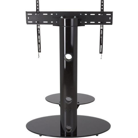 Cantilever Tv Stand With Brackets, Black, Oval Base,...