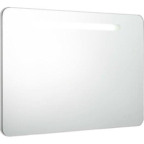Led Bathroom Mirror Cabinet 80x11x55 Cm - Vidaxl