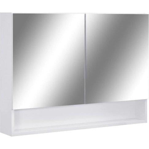 Led Bathroom Mirror Cabinet White 80x15x60 Cm Mdf - ...