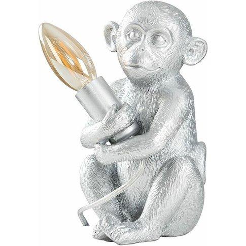 Led Table Lamp Baby Monkey Holding Bulb Animal Theme...