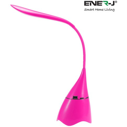 Led Table Lamp With Bluetooth Speaker, Pink - Ener-J