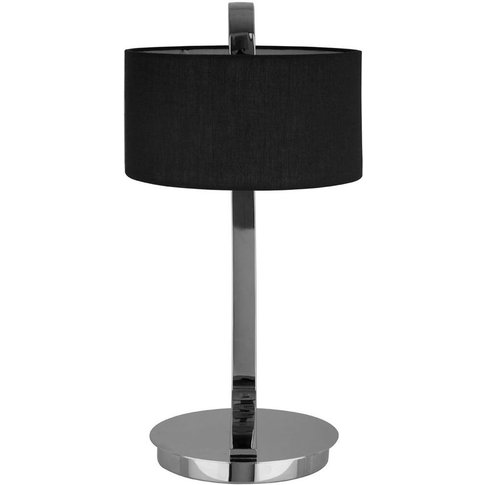Big Living - Leyna Table Lamp, Black / Chrome, Fabri...