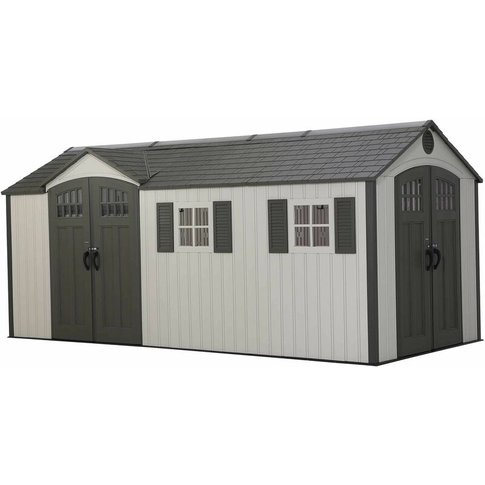 Lifetime 17.5 Ft. X 8 Ft. Outdoor Storage Shed - Brown