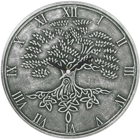 Tree Of Life Wall Clock (One Size) (Silver) - Lisa P...