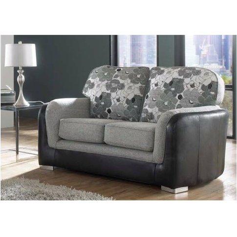 Lisbon 2 Seater Charcoal Fabric Sofa Settee - Design...