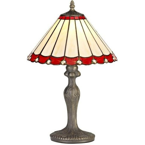 1 Light Curved Table Lamp E27 With 30cm Tiffany Shad...
