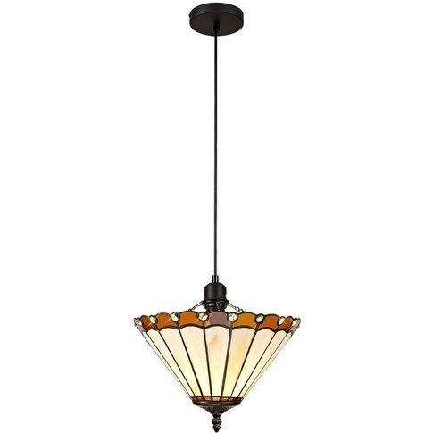1 Light Uplighter Ceiling Pendant E27 With 30cm Tiff...