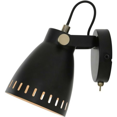 Adjustable Wall Lamp, 1 X E27, Matt Black, Antique B...