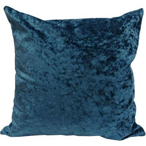 Luxury Crushed Velvet Cushion Cover Peacock 45x45cm ...