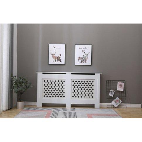 Malton Living Room White Modern Radiator Cover Wall ...