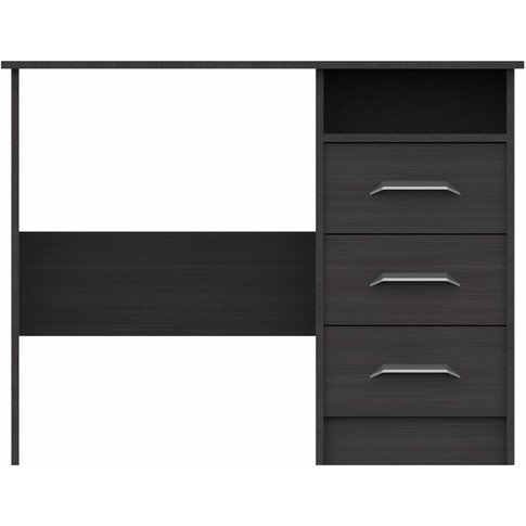Marianne 3 Draw Dressing Table Anthracite Oak - Netf...