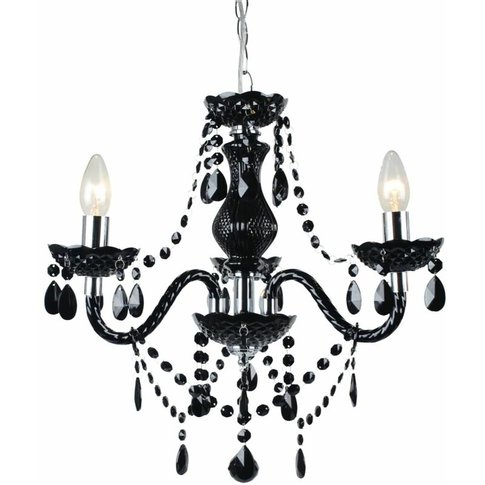 Black And Chrome Marie Therese Style 3 X 40w Chandel...