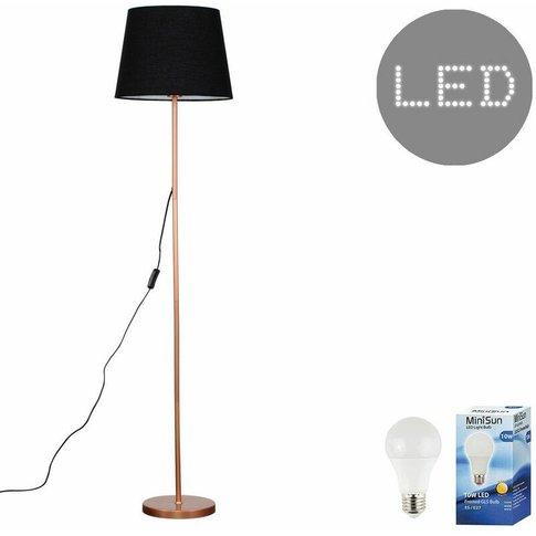 Charlie Copper 150cm Floor Lamp + Led Bulb - Black -...