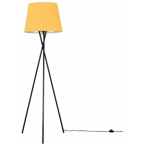 Camden Black Tripod Floor Lamp + Led Bulb - Mustard ...