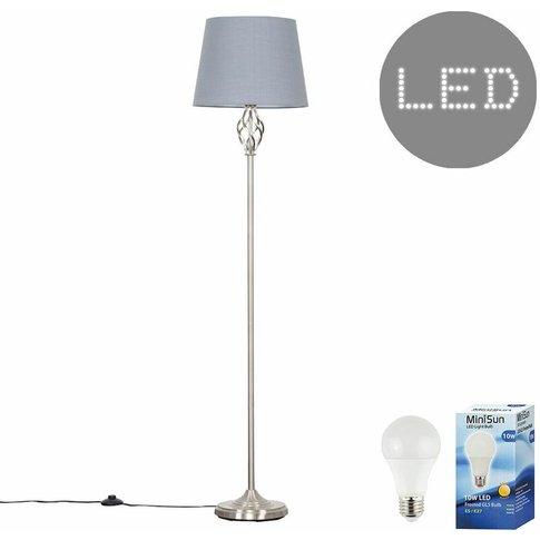 Memphis Twist Floor Lamp + 10w Led Gls Bulb - Grey -...