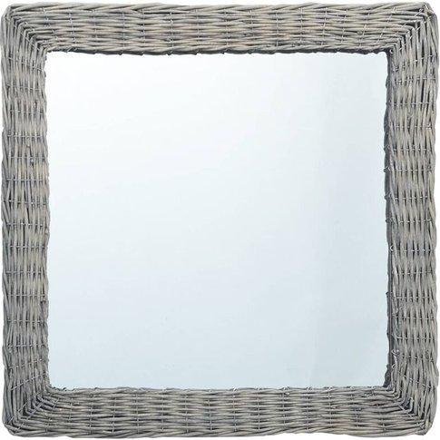 Mirror 50x50 Cm Wicker - Youthup