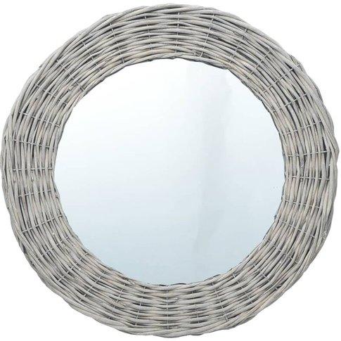 Mirror 70 Cm Wicker - Vidaxl