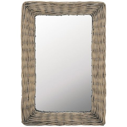 Mirror Wicker Brown 40x60 Cm - Youthup